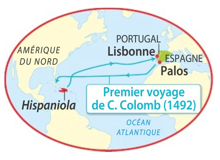 raconter le premier voyage de christophe colomb