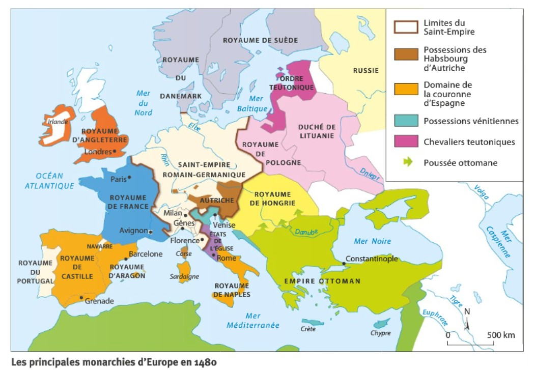 carte europe xve siecle
