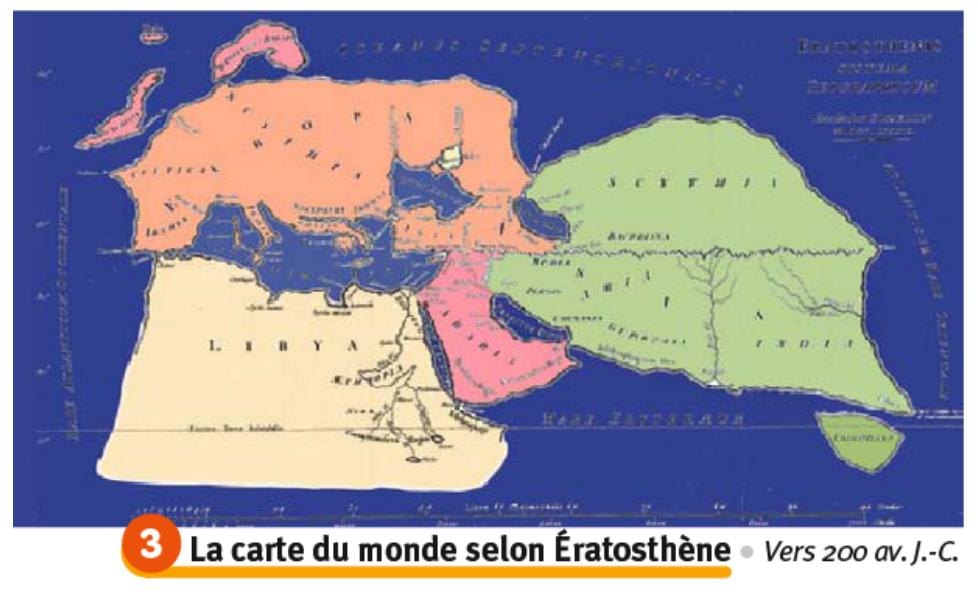 carte d eratosthene